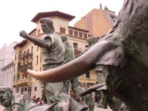 Monument to the Encierro (Bull Run)