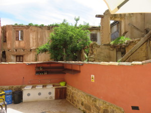 View from the terrace in our Albergque in Castrojeriz