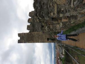 Laurie in Knights Templar Castle in Ponferrada