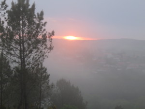 Sunrise over Olveiroa, <a href=