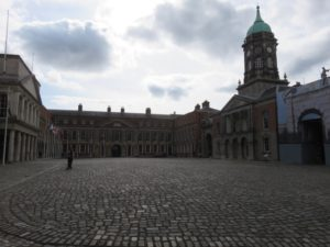 Courtyard of Dublin Castle where British turnover took to Irish Free State took place in 1921