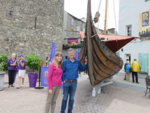 Recreation of Viking Longship in Waterford