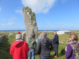 """The """"Clan"""" at a standing stone: Isle of Lewis"""