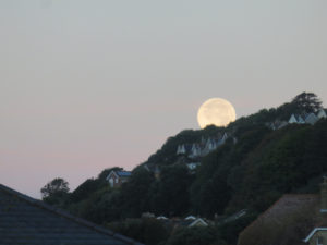 Moonset over Ventnor, Isle of Wight