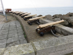 Cannons at the ready--in Cowes